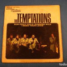 Discos de vinilo: THE TEMPTATIONS SINGLE 45 R.P.M.. Lote 98867647
