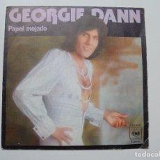 Discos de vinilo: GEORGIE DANN ''PAPEL MOJADO'' SINGLE . VINILO DOS CANCIONES DEL AÑO 1976. Lote 98890511