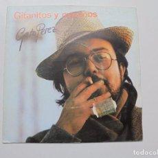 Discos de vinilo: GATO PEREZ ''GITANITOS Y MORENOS'' SINGLE . VINILO DOS CANCIONES DEL AÑO 1981. Lote 98890731