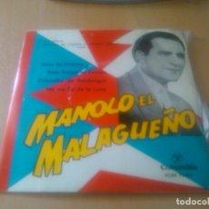 Discos de vinilo: MANOLO EL MALAGUEÑO - AIRES DE LINARES (+ 3 TEMAS). Lote 98925935