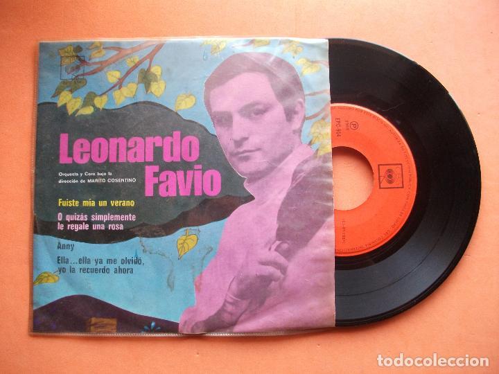 LEONARDO FAVIO - FUISTE MIA EN VERANO + O QUIZAS SIMPLEMETE LE REGALE UNA ROSA + 2 EP MEJICO PEPETO (Música - Discos de Vinilo - EPs - Solistas Españoles de los 70 a la actualidad)
