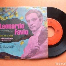 Discos de vinilo: LEONARDO FAVIO - FUISTE MIA EN VERANO + O QUIZAS SIMPLEMETE LE REGALE UNA ROSA + 2 EP MEJICO PEPETO. Lote 98928539