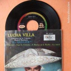 Discos de vinilo: LUCHA VILLA EL QUELETE , PERO TE EXTRAÑO , EN ABRIL + 1 EP MUSART MEXICO 1969. Lote 98929523