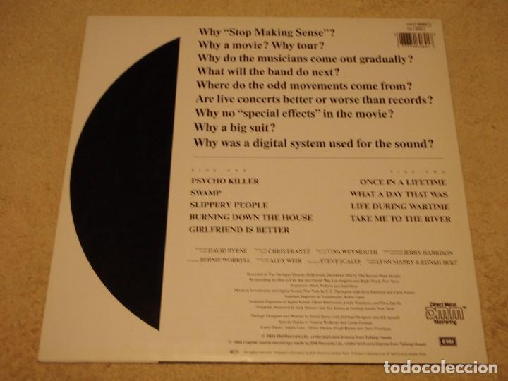 Discos de vinilo: TALKING HEADS ( STOP MAKING SENSE ) 1984 - GERMANY LP33 DMM - Foto 2 - 98931335