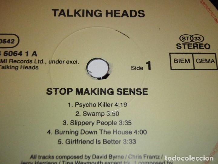 Discos de vinilo: TALKING HEADS ( STOP MAKING SENSE ) 1984 - GERMANY LP33 DMM - Foto 5 - 98931335