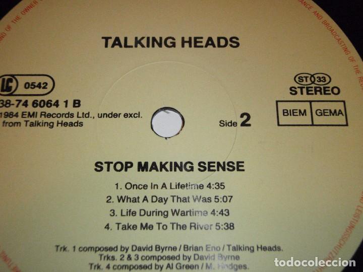 Discos de vinilo: TALKING HEADS ( STOP MAKING SENSE ) 1984 - GERMANY LP33 DMM - Foto 6 - 98931335