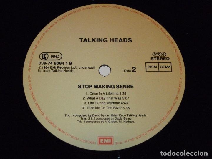 Discos de vinilo: TALKING HEADS ( STOP MAKING SENSE ) 1984 - GERMANY LP33 DMM - Foto 7 - 98931335