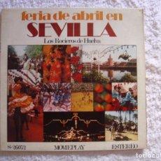 Discos de vinilo: LP VINILO - LOS ROCIEROS DE HUELVA - FERIA DE ABRIL EN SEVILLA - 1971. Lote 98943419