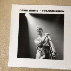 Discos de vinilo: DAVID BOWIE -TRANSMISSION- (2016) LP DISCO VINILO. Lote 98964195