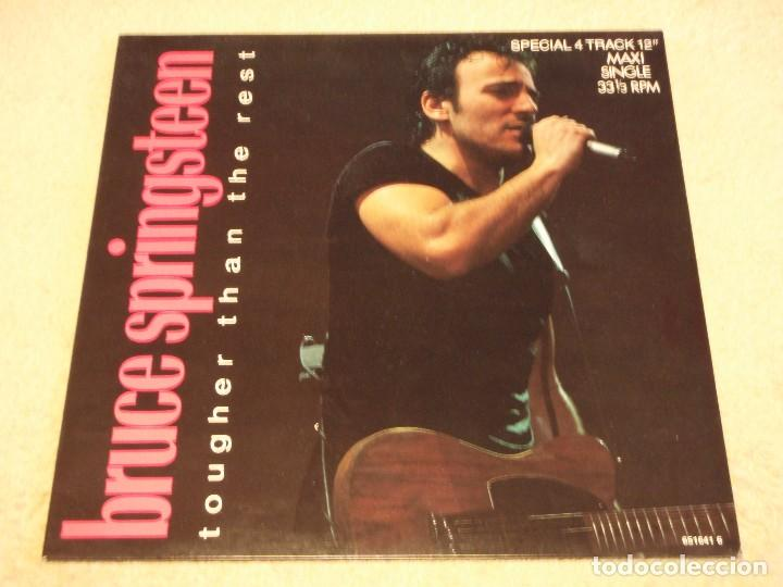 BRUCE SPRINGSTEEN ?– TOUGHER THAN THE REST MAXI-33 HOLANDA 1987 CBS (Música - Discos de Vinilo - Maxi Singles - Pop - Rock - New Wave Extranjero de los 80)