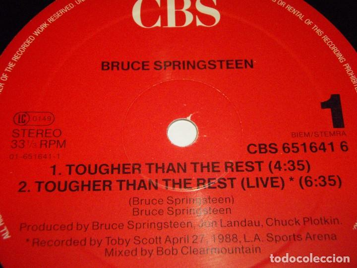Discos de vinilo: Bruce Springsteen ?– Tougher Than The Rest Maxi-33 Holanda 1987 CBS - Foto 3 - 98965211