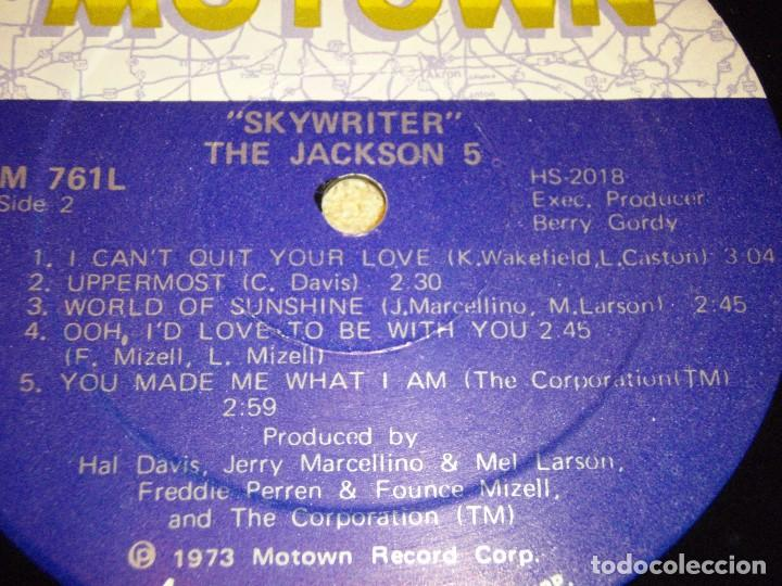 Discos de vinilo: THE JACKSON 5 ( SKYWRITER ) 1973 - USA LP33 MOTOWN RECORDS - Foto 6 - 98971679