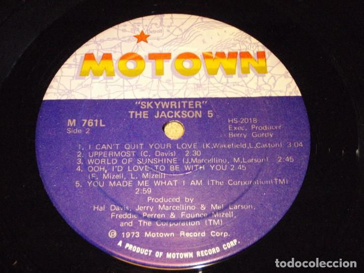 Discos de vinilo: THE JACKSON 5 ( SKYWRITER ) 1973 - USA LP33 MOTOWN RECORDS - Foto 7 - 98971679