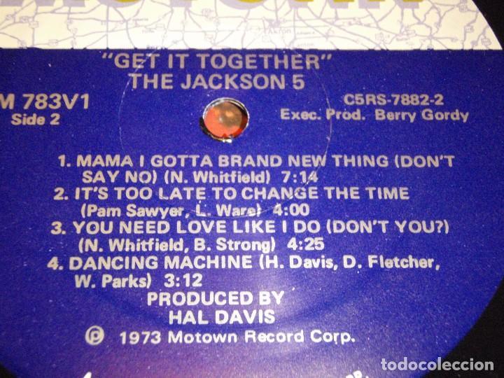 Discos de vinilo: THE JACKSON 5 ( GET IT TOGETHER ) USA-1973 LP33 MOTOWN RECORDS - Foto 6 - 98972271