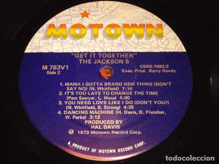 Discos de vinilo: THE JACKSON 5 ( GET IT TOGETHER ) USA-1973 LP33 MOTOWN RECORDS - Foto 7 - 98972271