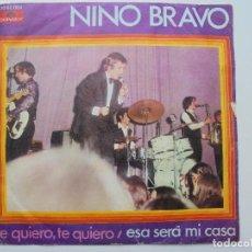 Discos de vinilo: NINO BRAVO ''TE QUIERO TE QUIERO'' SINGLE DOS CANCIONES DEL AÑO 1970. Lote 98979175