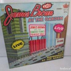 Discos de vinilo: JAMES BROWN. A LIVE PERFORMANCE AT THE GARDEN. LP VINILO. KING RECORDS. VER FOTOGRAFIAS. Lote 98980143