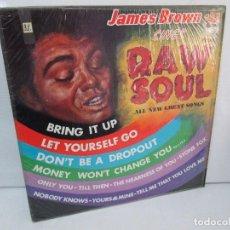 Discos de vinilo: JAMES BROWN. RAW SOUL. ALL NEW GREAT SONGS. LP VINILO. KING RECORDS. VER FOTOGRAFIAS ADJUNTAS. Lote 98980343