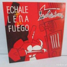 Discos de vinilo: LOSCOMOTORAS. ECHALE + LEÑA AL FUEGO. LP VINILO. VIRGIN ESPAÑA 1990. VER FOTOGRAFIAS ADJUNTAS. Lote 98981867