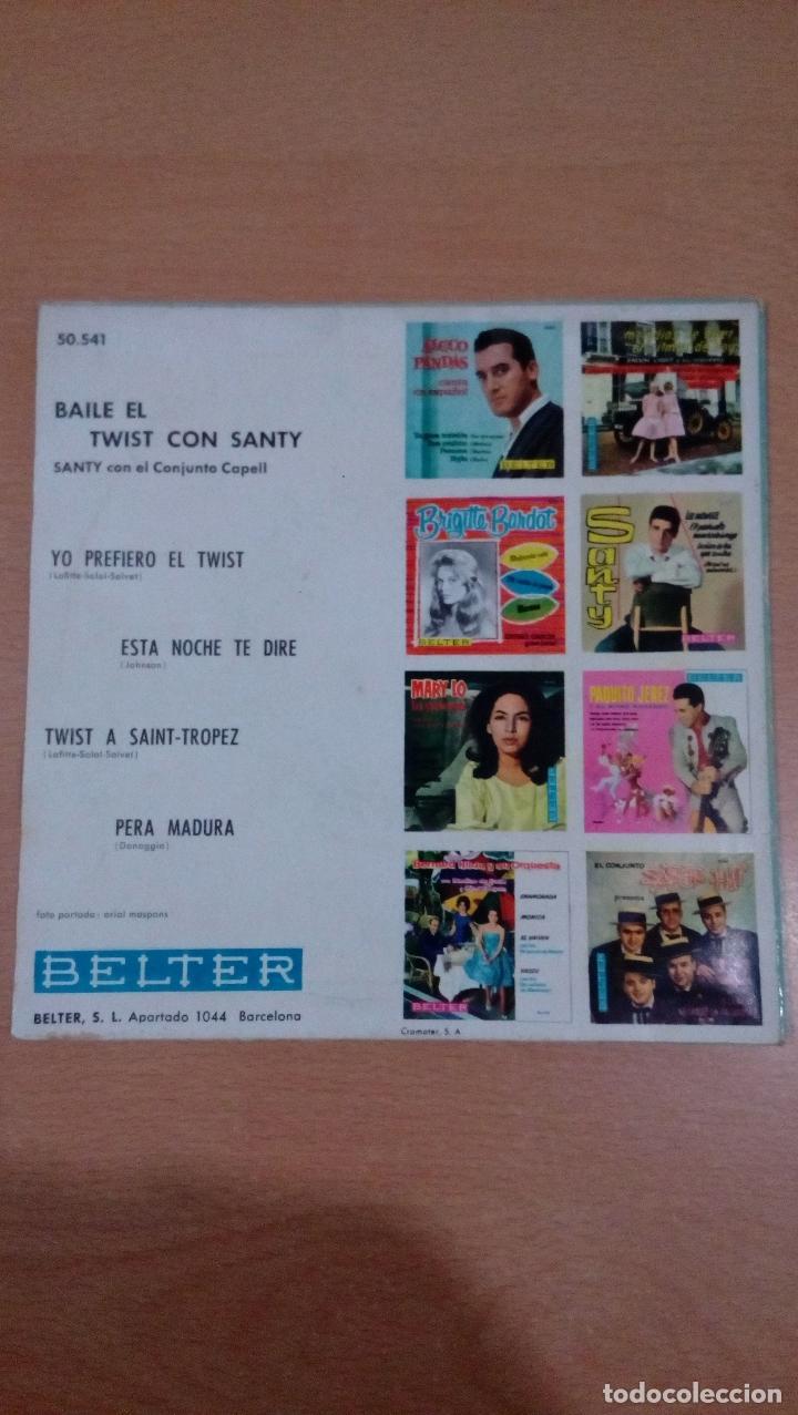 Discos de vinilo: raro - baila el twist con santy -buen estado - ver fotos - Foto 2 - 98985311