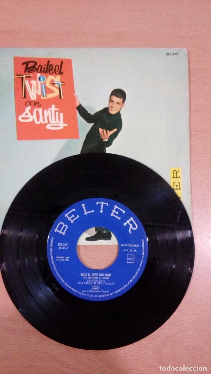 Discos de vinilo: raro - baila el twist con santy -buen estado - ver fotos - Foto 3 - 98985311