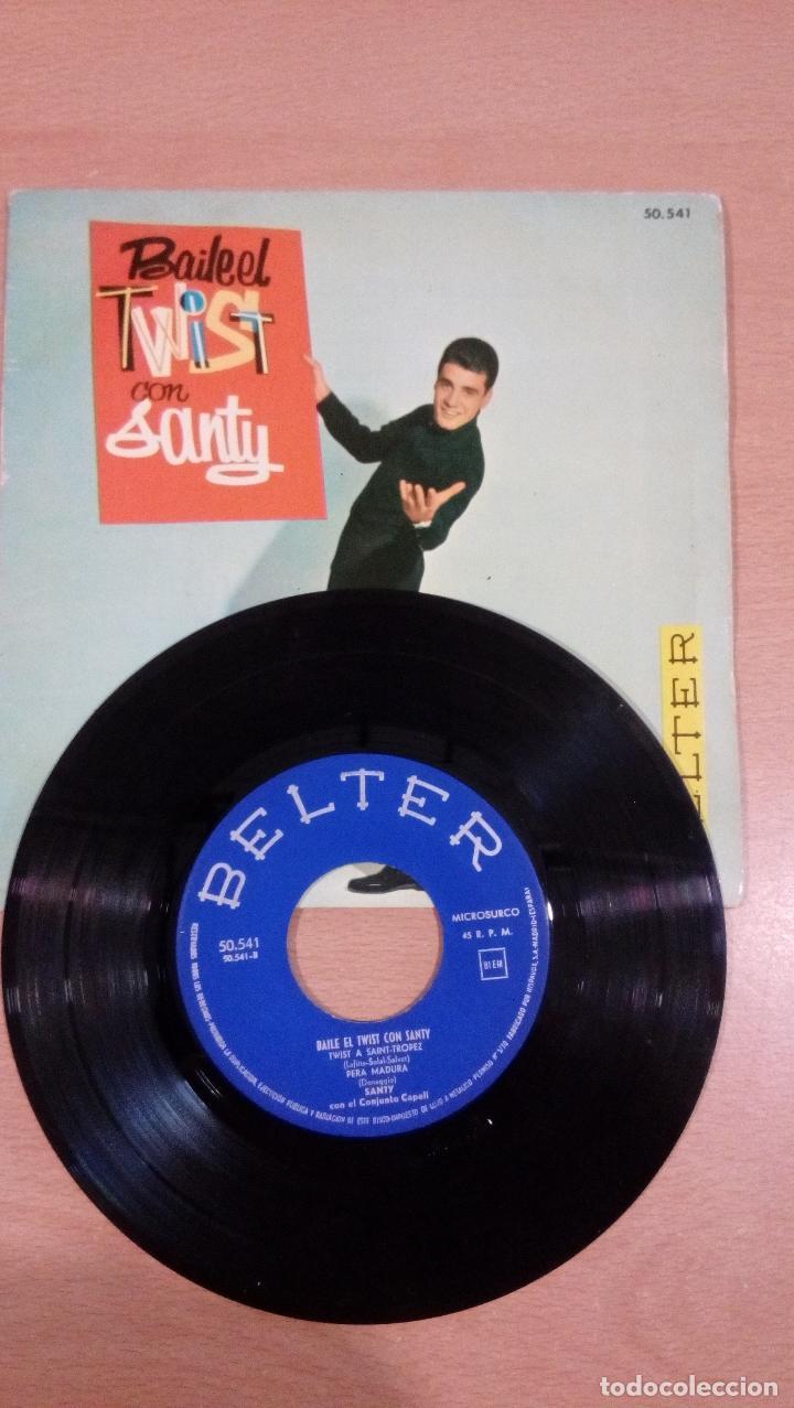 Discos de vinilo: raro - baila el twist con santy -buen estado - ver fotos - Foto 4 - 98985311