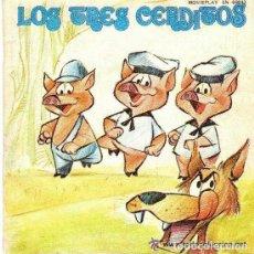Discos de vinilo: LOS TRES CERDITOS - SINGLE ROJO MOVIEPLAY - 1970 DISCO-CUENTO. Lote 99028963