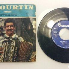 Discos de vinilo: DISCO DE JO COURTIN. TANGOS. LA CUMPARSITA. A MEDIA LUZ. POEMA. ADIÓS MUCHACHOS. DISCOPHON. Lote 99031287