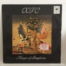 Discos de vinilo: XTC - MAYOR OF SIMPLETON. Lote 99053738