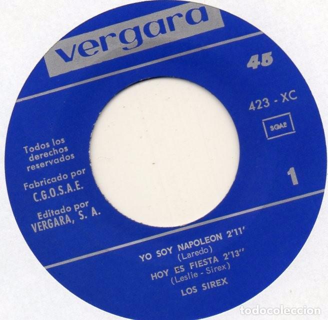Discos de vinilo: SIREX,LOS, EP, YO SOY NAPOLEON + 3, AÑO 1966 - Foto 3 - 99054655