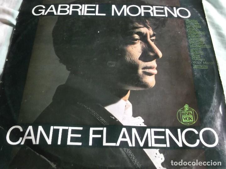 GABRIEL MORENO-CANTE FLAMENCO-EDICION ORIG 1967 (Música - Discos - LP Vinilo - Flamenco, Canción española y Cuplé)