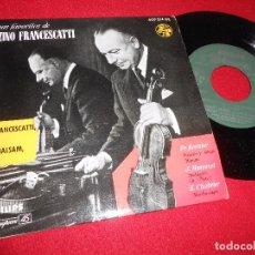 Discos de vinilo: ZINO FRANCESCATTI+ARTUR BALSAM KREISLER+MASSENET+CHABRIER EP 1958 PIANO VIOLIN SPAIN. Lote 99066999