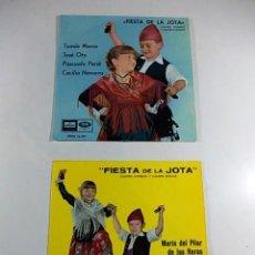 Discos de vinilo: LOTE 2 SINGLES FIESTA DE LA JOTA DE ODEON.. Lote 99078727