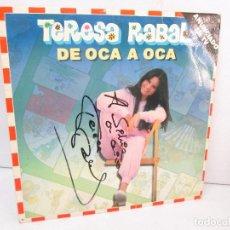 Discos de vinilo: TERESA RABAL DE OCA A OCA. DEDICADO POR LA CANTANTE. LP VINILO. MOVIEPLAY 1981. VER FOTOGRAFIAS. Lote 99089695