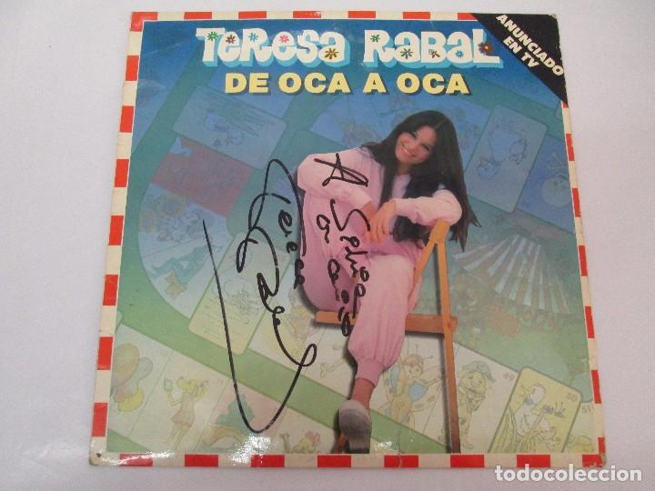 Discos de vinilo: TERESA RABAL DE OCA A OCA. DEDICADO POR LA CANTANTE. LP VINILO. MOVIEPLAY 1981. VER FOTOGRAFIAS - Foto 2 - 99089695