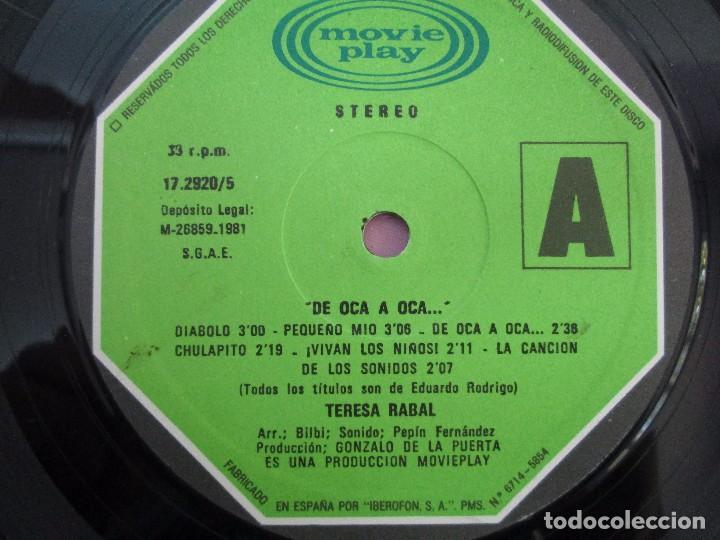 Discos de vinilo: TERESA RABAL DE OCA A OCA. DEDICADO POR LA CANTANTE. LP VINILO. MOVIEPLAY 1981. VER FOTOGRAFIAS - Foto 4 - 99089695