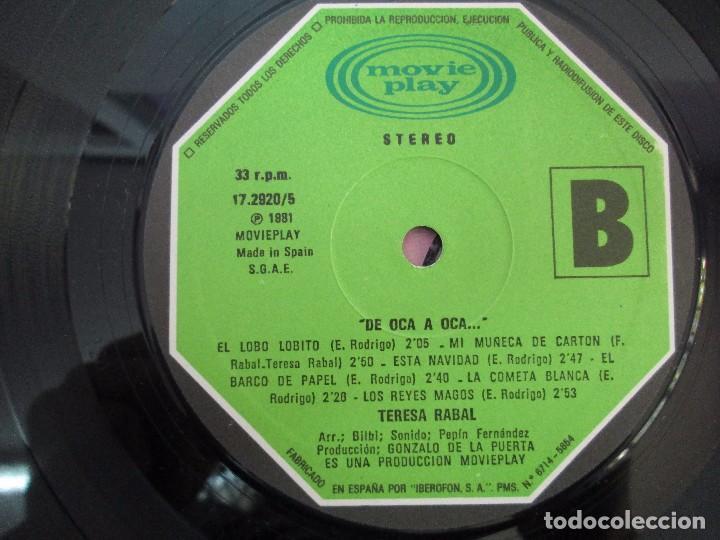 Discos de vinilo: TERESA RABAL DE OCA A OCA. DEDICADO POR LA CANTANTE. LP VINILO. MOVIEPLAY 1981. VER FOTOGRAFIAS - Foto 6 - 99089695