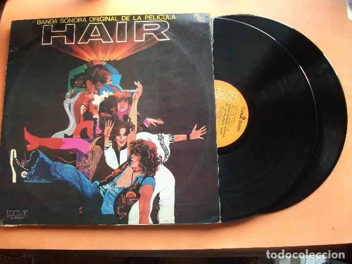 BANDA SONORA - HAIR DOBLE LP GATEFOLD 1979 EDICION ESPAÑOLA (Música - Discos - LP Vinilo - Bandas Sonoras y Música de Actores )
