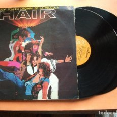 Discos de vinilo: BANDA SONORA - HAIR DOBLE LP GATEFOLD 1979 EDICION ESPAÑOLA. Lote 99092727