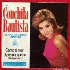 Discos de vinilo: CONCHITA BAUTISTA DISCO FESTIVAL INTERNACIONAL SPLIT 69 CANTO AL MAR DICES QUE NO BELTER DIFÍCIL . Lote 99095775