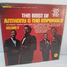 Discos de vinilo: THE BEST OF ANTHONY AND THE IMPERALS. VOLUME 2. LP VINILO VEEP 1968. VER FOTOGRAFIAS ADJUNTAS. Lote 99103423