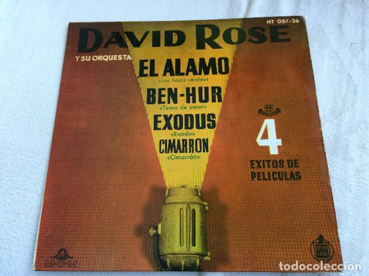 EXITOS DE PELICULAS. DAVID ROSE. (Música - Discos de Vinilo - Maxi Singles - Bandas Sonoras y Actores)