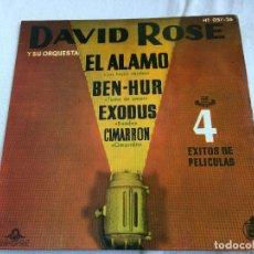 Discos de vinilo: EXITOS DE PELICULAS. DAVID ROSE.. Lote 99126059