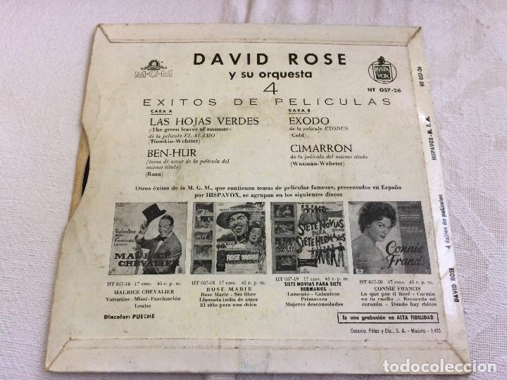 Discos de vinilo: Exitos de peliculas. David Rose. - Foto 2 - 99126059