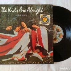 Discos de vinilo: WHO, THE - THE KIDS ARE ALRIGHT (POLYDOR) 2 X LP ESPAÑA + ENCARTES RELIEVE + LIBRETO. Lote 99147547