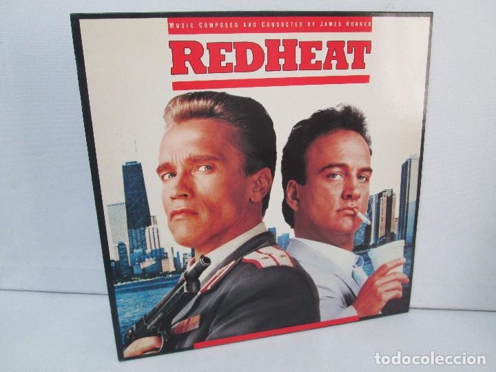 ORIGINAL SOUNDTRACK RED HEAT. PRODUCCION JAMES HORNER. LP VINILO. VIRGIN 1988. VER FOTOGRAFIAS (Música - Discos - Singles Vinilo - Bandas Sonoras y Actores)