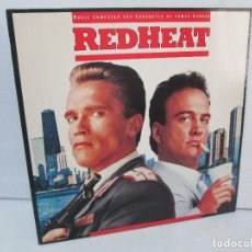 Discos de vinilo: ORIGINAL SOUNDTRACK RED HEAT. PRODUCCION JAMES HORNER. LP VINILO. VIRGIN 1988. VER FOTOGRAFIAS. Lote 99153183