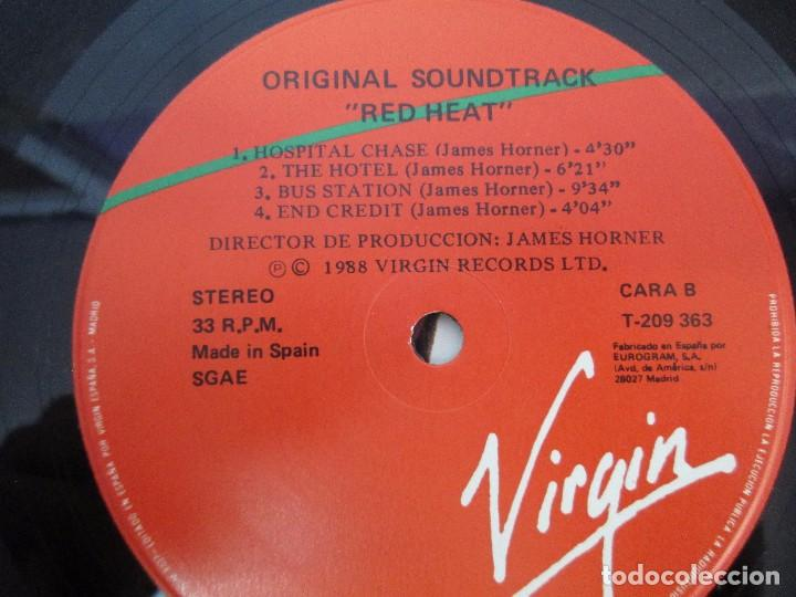 Discos de vinilo: ORIGINAL SOUNDTRACK RED HEAT. PRODUCCION JAMES HORNER. LP VINILO. VIRGIN 1988. VER FOTOGRAFIAS - Foto 6 - 99153183