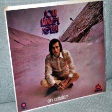 Discos de vinilo: JOAN MANUEL SERRAT - LP VINILO 12'' - EN CATALÁN - 10 TRACKS - EDITADO EN MÉXICO - CAPITOL 1971. Lote 99205559