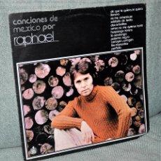 Discos de vinilo: RAPHAEL - LP VINILO 12'' - CANCIONES DE MÉXICO - 12 TRACKS - EDITADO EN MÉXICO - GAMMA 1977. Lote 99205943